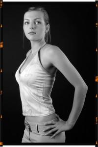 portfólió fotósorozatok fekete-fehér modellfotó 2